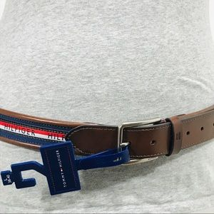 Tommy Hilfiger Brown, Red, White & Blue Belt NWT